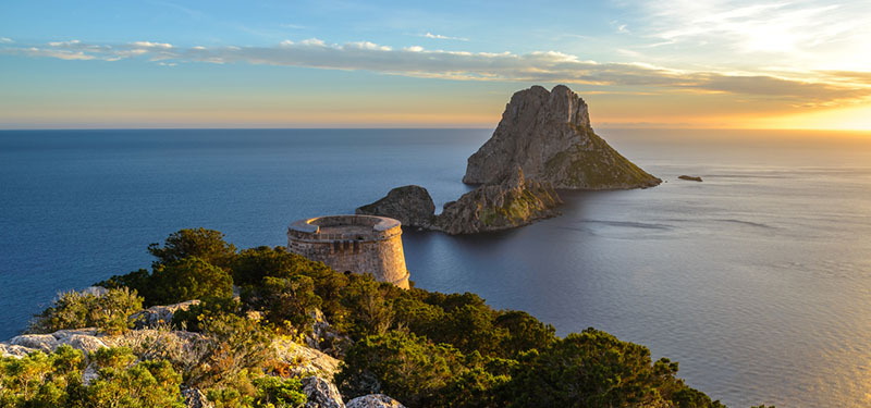 Savinar Tower and Es Vedra island Ibiza