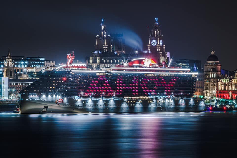Scarlet Lady at Night Photo by Dave Mort